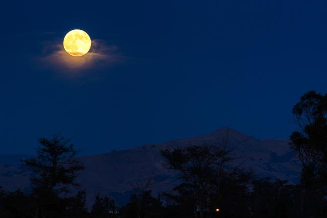 Super Moon over Mission Peak
